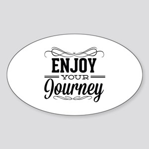 Enjoy Your Journey Sticker (Oval)