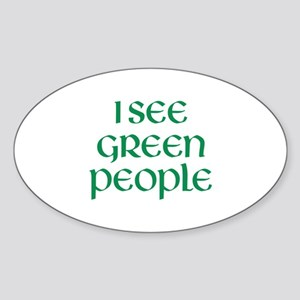 I See Green People Sticker (Oval)