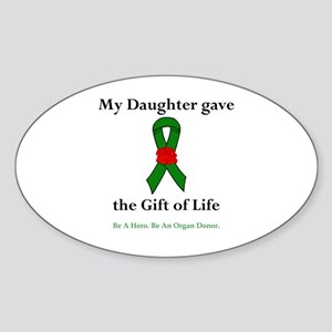 Daughter Donor Oval Sticker