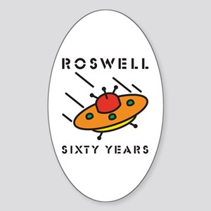 The 1947 Roswell UFO incident Oval Sticker