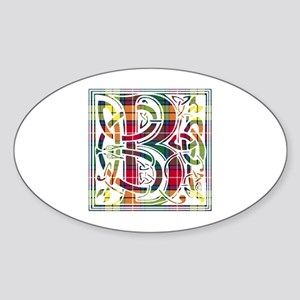 Monogram - Buchanan Sticker (Oval)