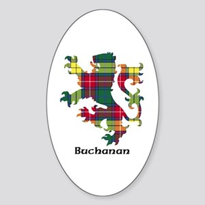 Lion - Buchanan Sticker (Oval)