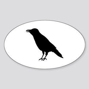 Crow Raven Sticker (Oval)