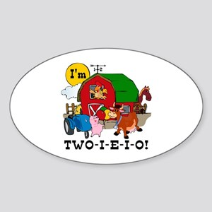 TWO-I-E-I-O Sticker (Oval)