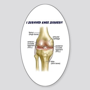 Knee Surgery Gift 9 Oval Sticker