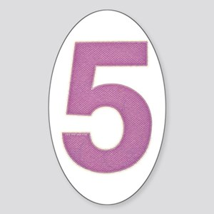 Big Purple Five | Oval Sticker