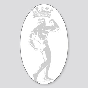 KING OF BODYBUILDING Oval Sticker