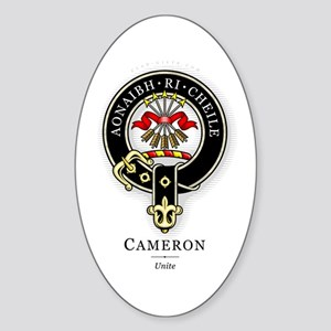 Clan Cameron Oval Sticker