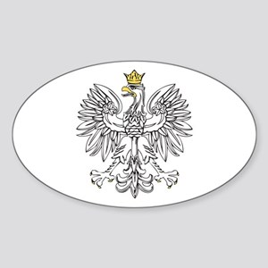 Polish Eagle With Gold Crown Sticker (Oval)