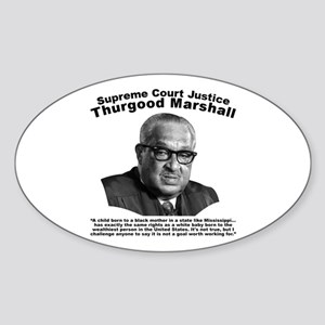 Thurgood Marshall: Equality Sticker (Oval)