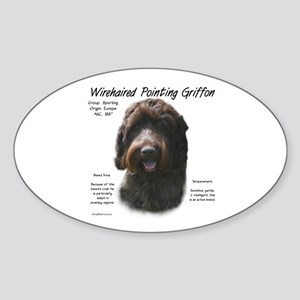 Wirehaired Pointing Griffon Sticker (Oval)