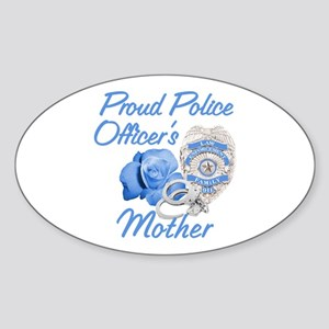 Blue Rose Police Mother Oval Sticker