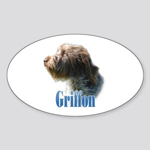 WireGriffName Oval Sticker