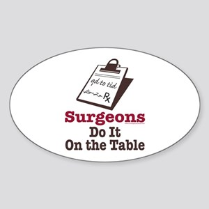 Funny Doctor Surgeon Oval Sticker