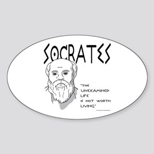 Socrates Oval Sticker