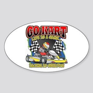 Go Kart Life Sticker (Oval)