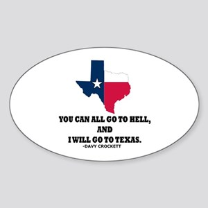DAVY CROCKETT Sticker (Oval)