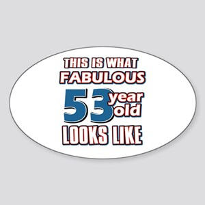 Cool 53 year old birthday designs Sticker (Oval)