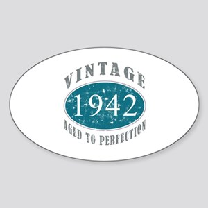 1942 Vintage Blue Sticker (Oval)