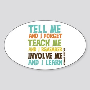 Involve Me Sticker (Oval)