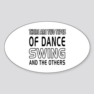 Swing Dance Designs Sticker (Oval)