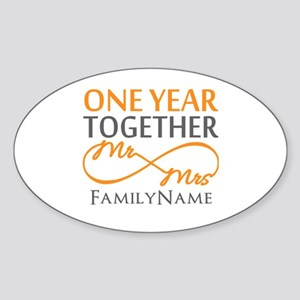 Gift For 1st Wedding Anniversary Sticker (Oval)