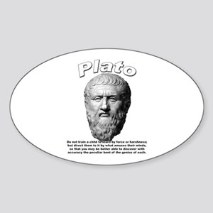 Plato 02 Oval Sticker