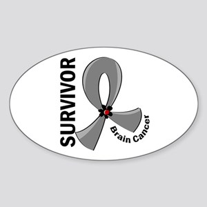 Brain Cancer Survivor 12 Sticker (Oval)