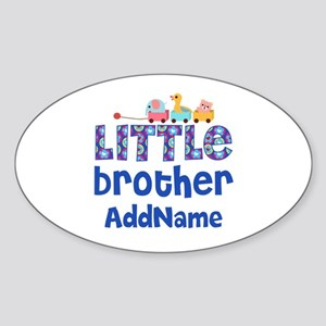 Personalized Little Brother Sticker (Oval)