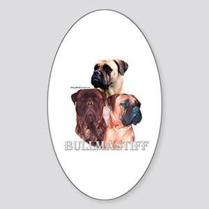 Bullmastiff 1 Oval Sticker