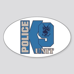 Police K9 Unit Dog Sticker (Oval)