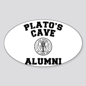 Plato Oval Sticker