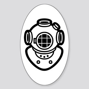 Diving Helmet Sticker (Oval)