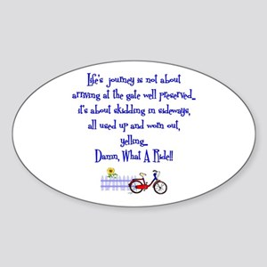 Lifes Journey II Oval Sticker