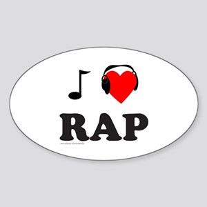 RAP MUSIC Oval Sticker