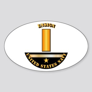 Navy - Officer - Ensign Sticker (Oval)