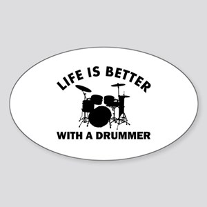 Drummer designs Sticker (Oval)