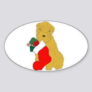 Stocking Pei Oval Sticker