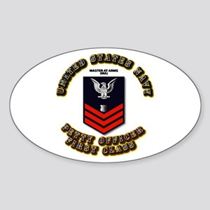 Master at Arms (MA) Sticker (Oval)