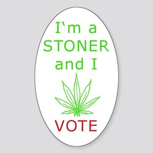 STONER VOTER Oval Sticker