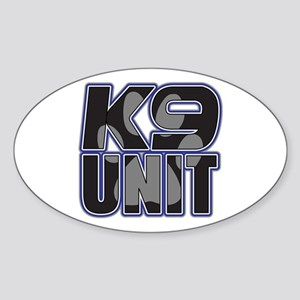 Police K9 Unit Paw Sticker (Oval)