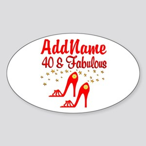 40TH STILETTO Sticker (Oval)