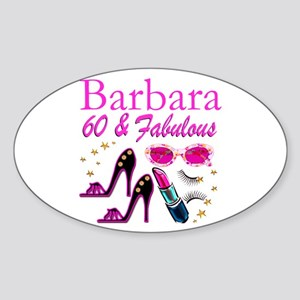 FUN FABULOUS 60TH Sticker (Oval)