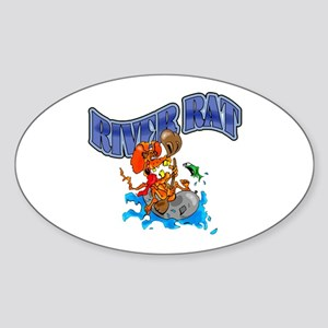 RIVER RAT Sticker (Oval)