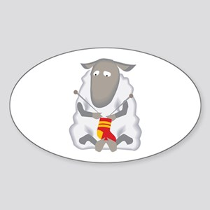 Sheep Knitting Sock Sticker