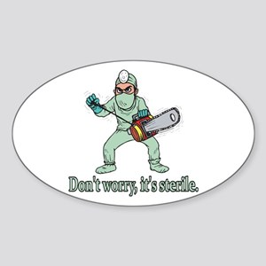 Funny Gifts For Patients Oval Sticker