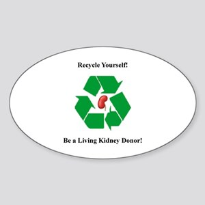 Living Kidney Donor Oval Sticker