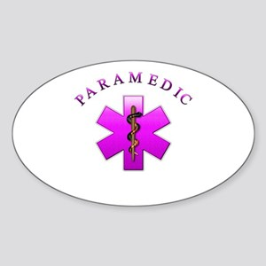 Paramedic(pink) Oval Sticker