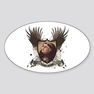 Thomas Aquinas Oval Sticker