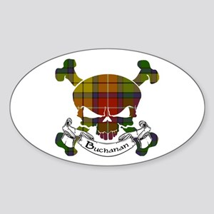 Buchanan Tartan Skull Sticker (Oval)
